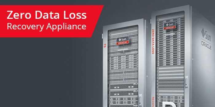 Zero data loss recovery appliance
